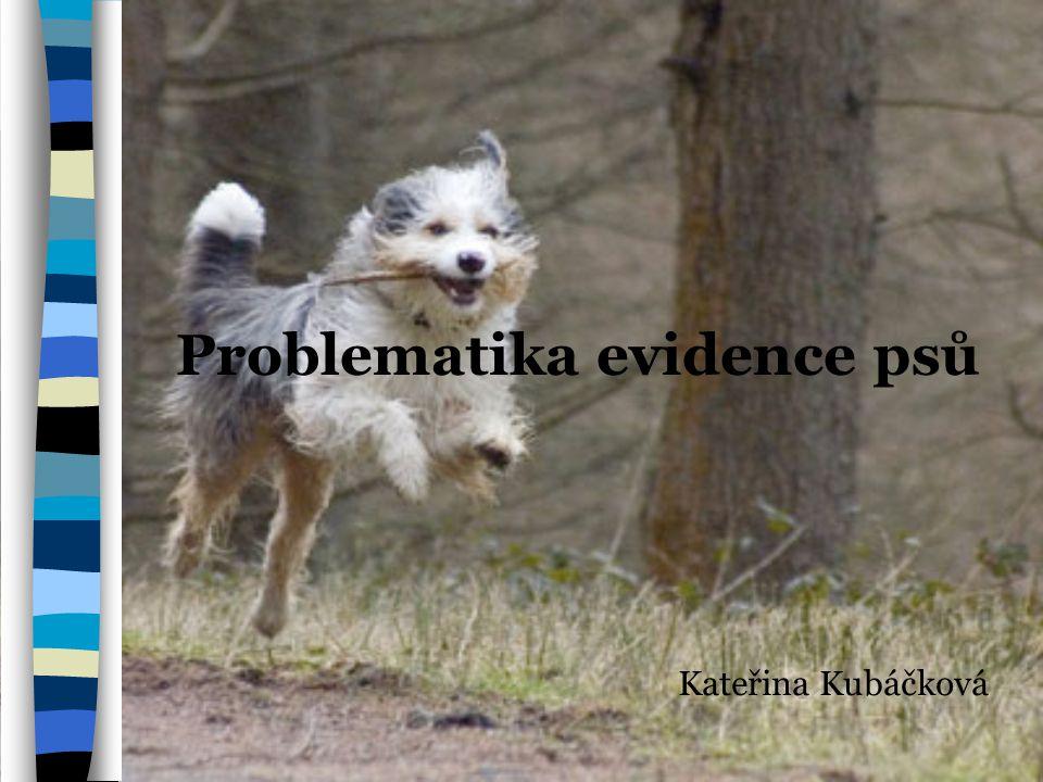 Problematika evidence psů