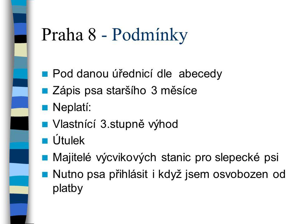 Praha 8 - Podmínky Pod danou úřednicí dle abecedy