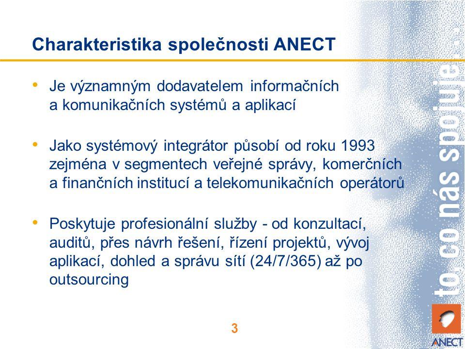 Charakteristika společnosti ANECT
