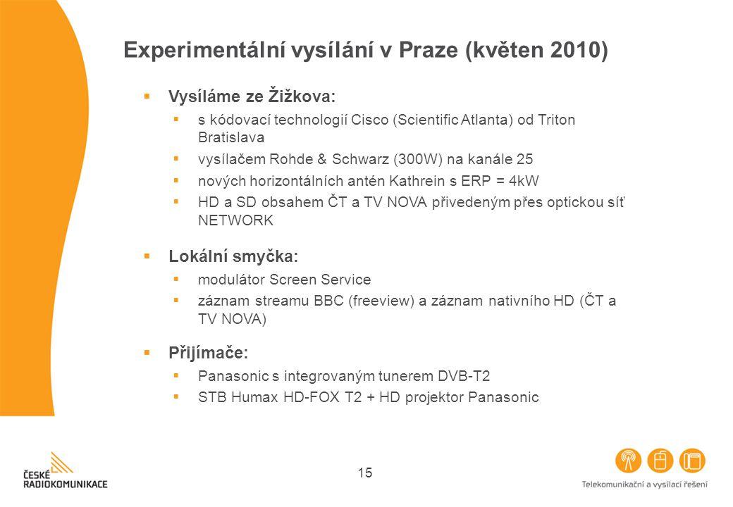 Experimentální vysílání v Praze (květen 2010)