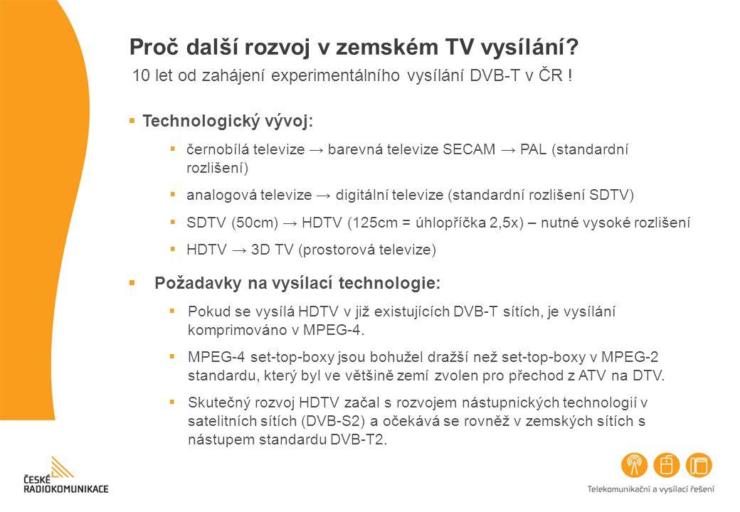 Proč další rozvoj v zemském TV vysílání