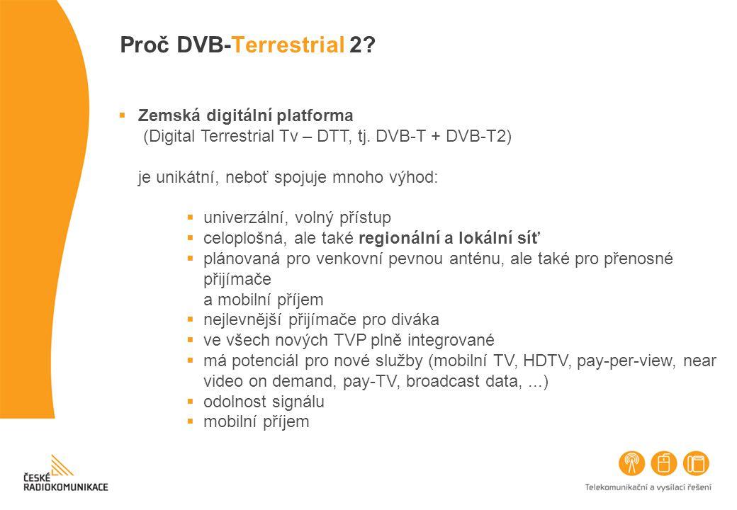 Proč DVB-Terrestrial 2 Zemská digitální platforma