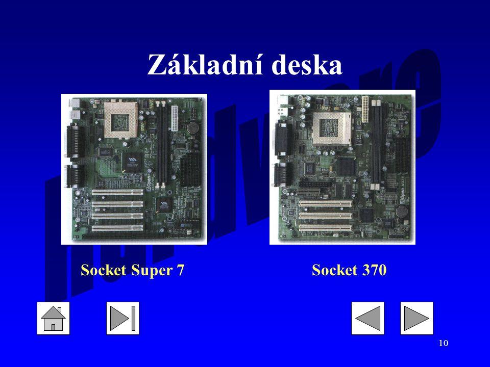 Základní deska Socket Super 7 Socket 370