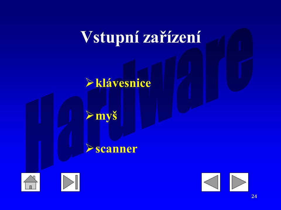 Vstupní zařízení klávesnice myš scanner