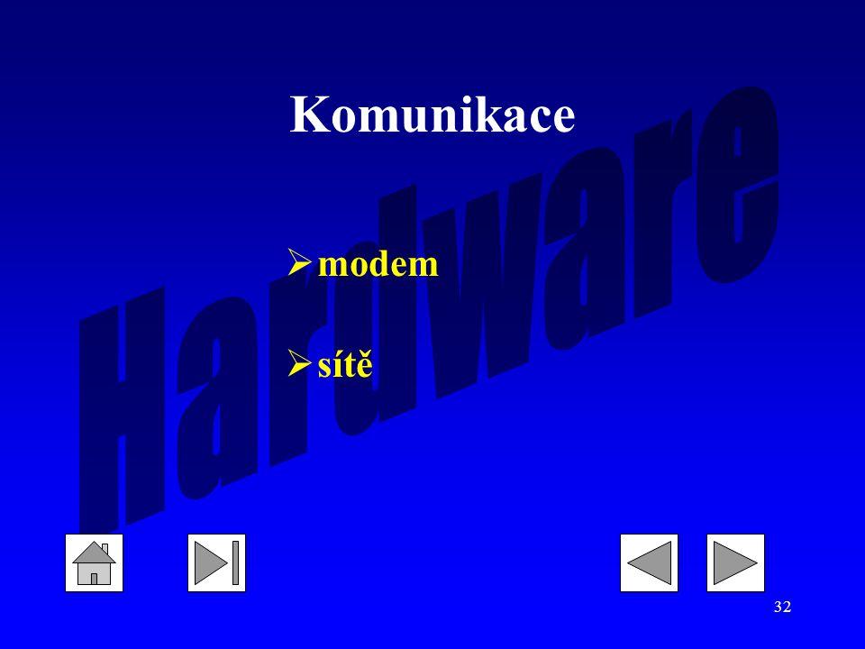 Komunikace modem sítě