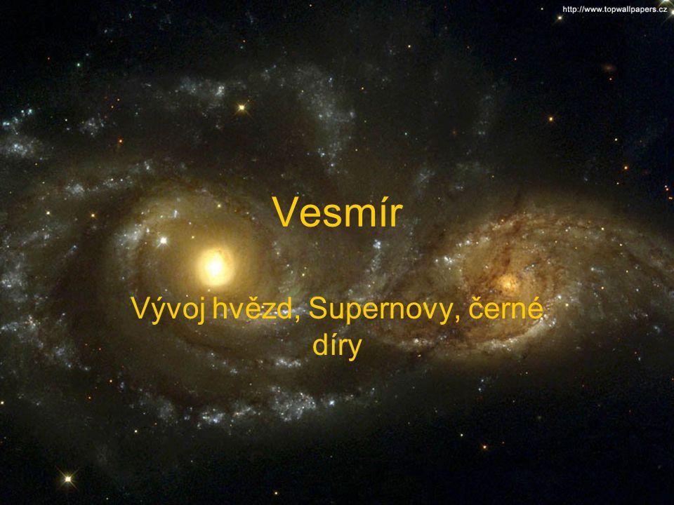 Vývoj hvězd, Supernovy, černé díry