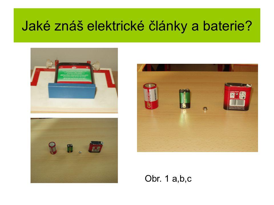 Jaké znáš elektrické články a baterie