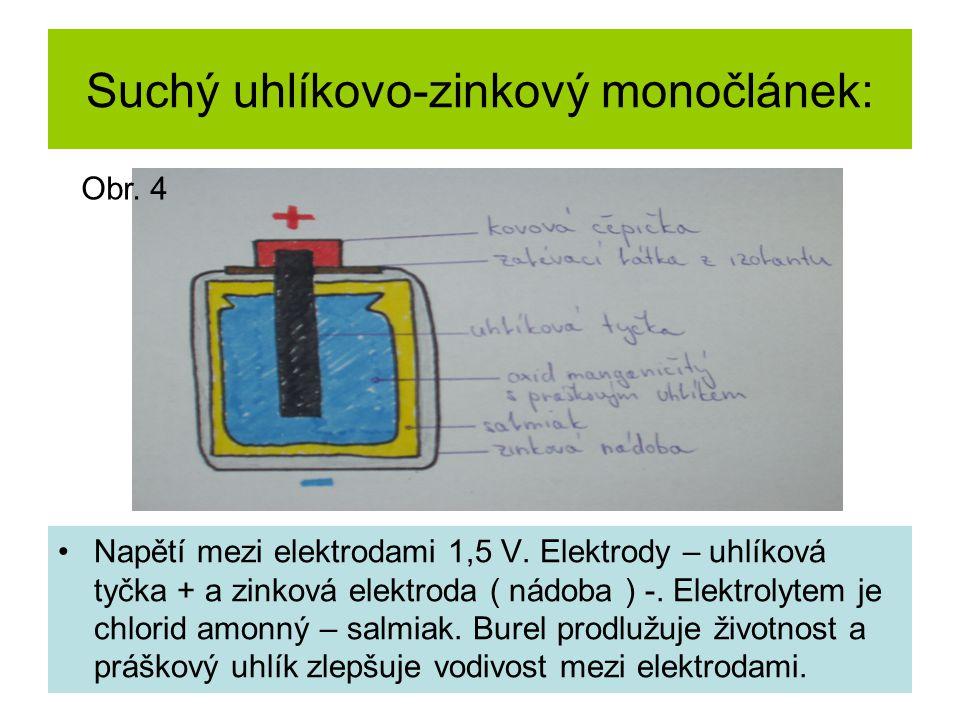 Suchý uhlíkovo-zinkový monočlánek: