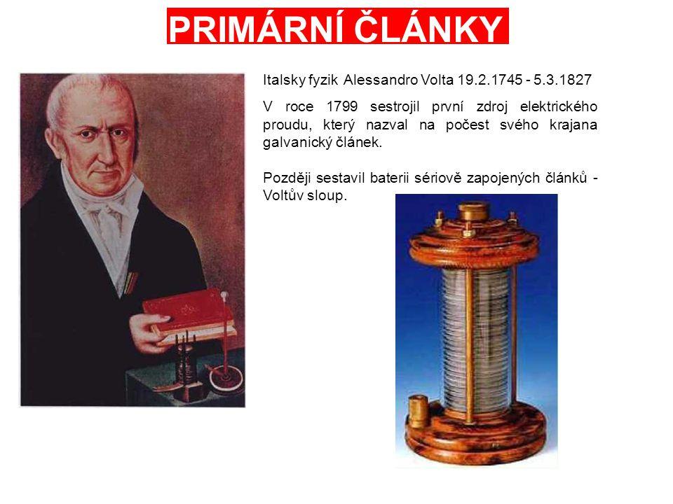 PRIMÁRNÍ ČLÁNKY Italsky fyzik