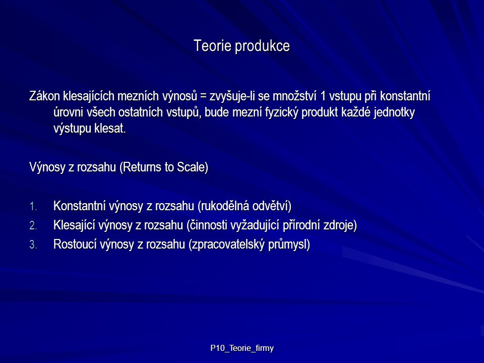 Teorie produkce