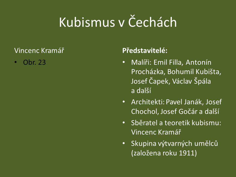 Kubismus v Čechách Vincenc Kramář Představitelé: Obr. 23
