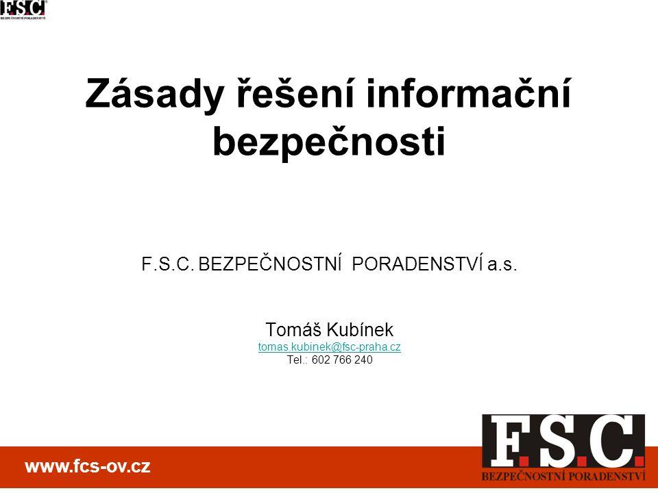 Zásady řešení informační bezpečnosti