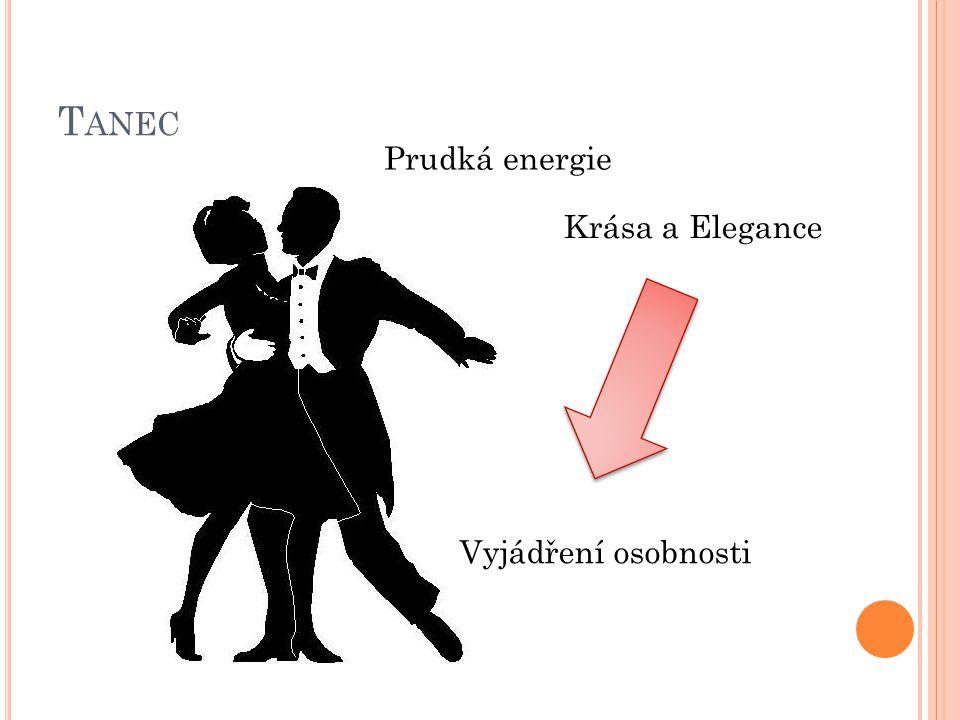 Tanec Prudká energie Krása a Elegance Vyjádření osobnosti