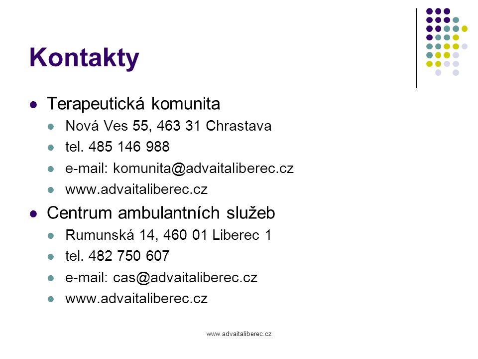 Kontakty Terapeutická komunita Centrum ambulantních služeb