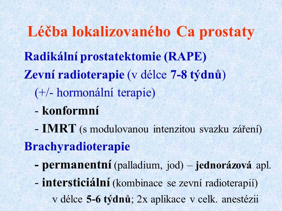 Léčba lokalizovaného Ca prostaty