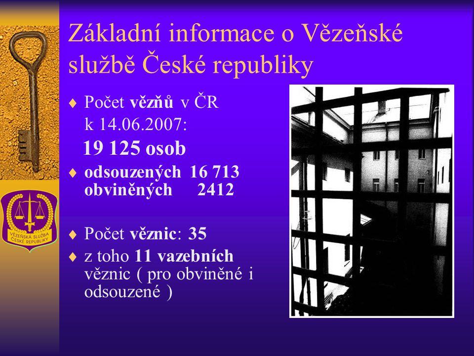 Základní informace o Vězeňské službě České republiky