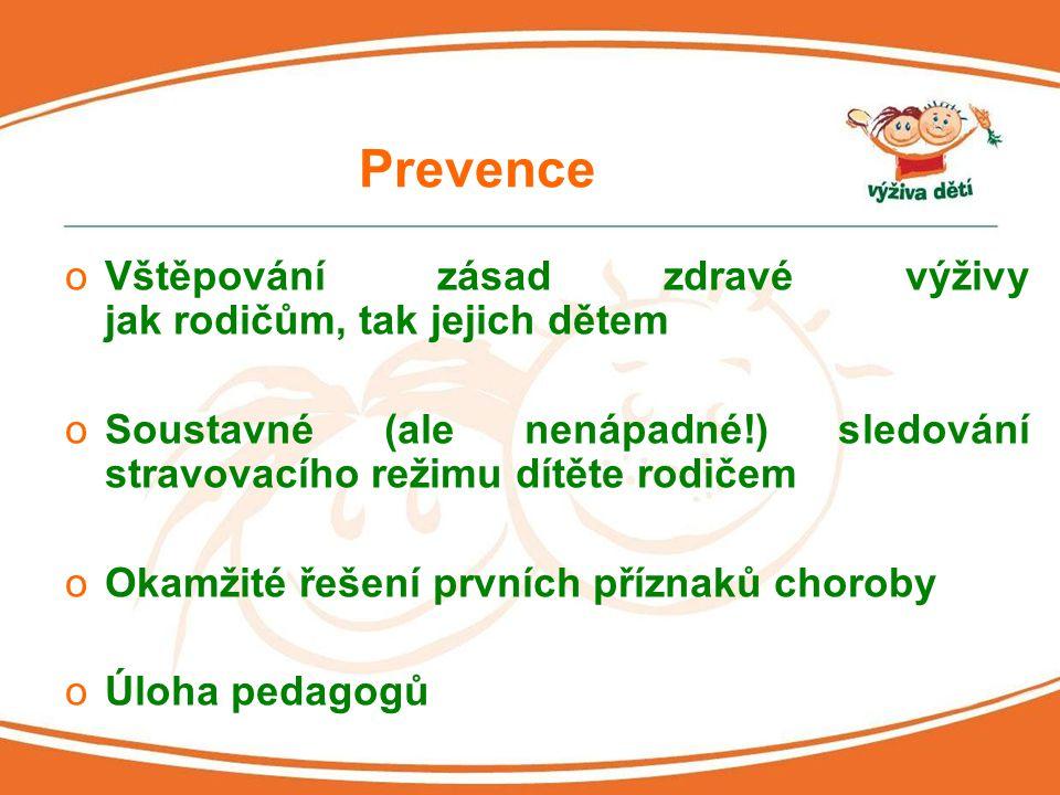Prevence Vštěpování zásad zdravé výživy jak rodičům, tak jejich dětem