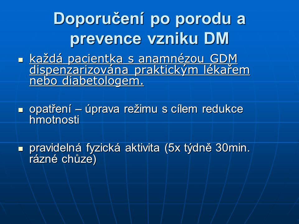 Doporučení po porodu a prevence vzniku DM