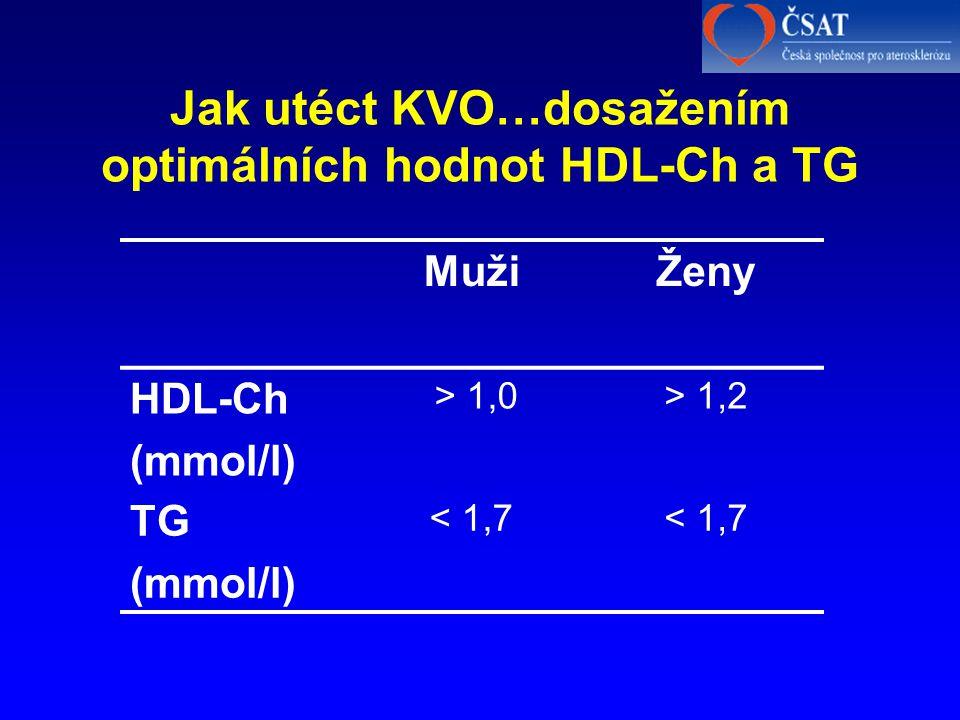 Jak utéct KVO…dosažením optimálních hodnot HDL-Ch a TG