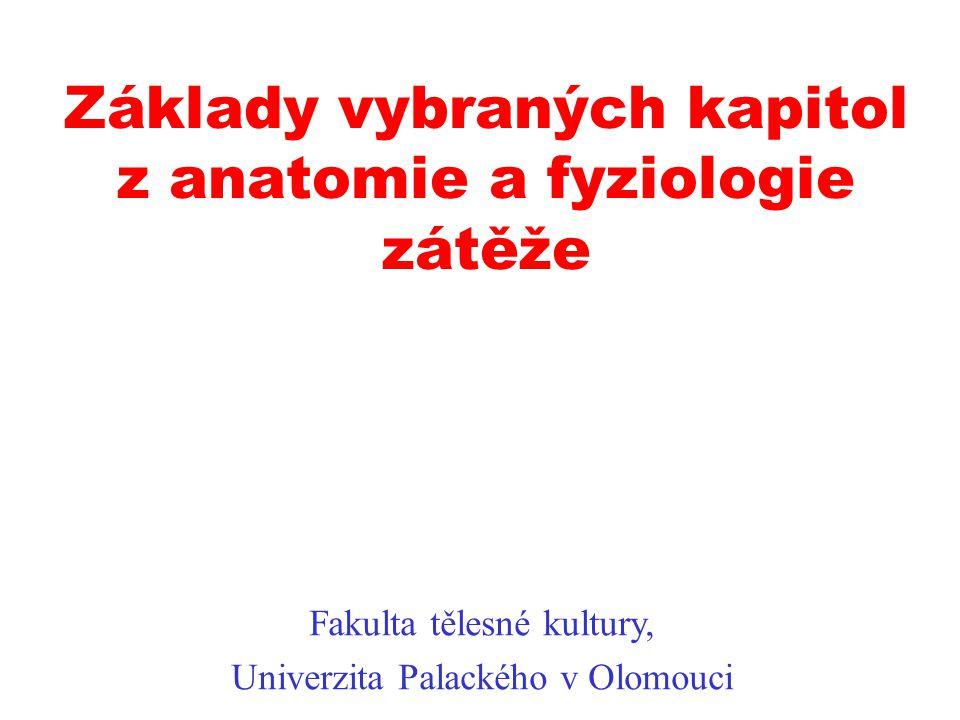 Základy vybraných kapitol z anatomie a fyziologie zátěže