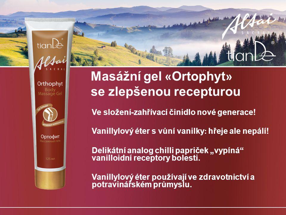 Masážní gel «Ortophyt» se zlepšenou recepturou