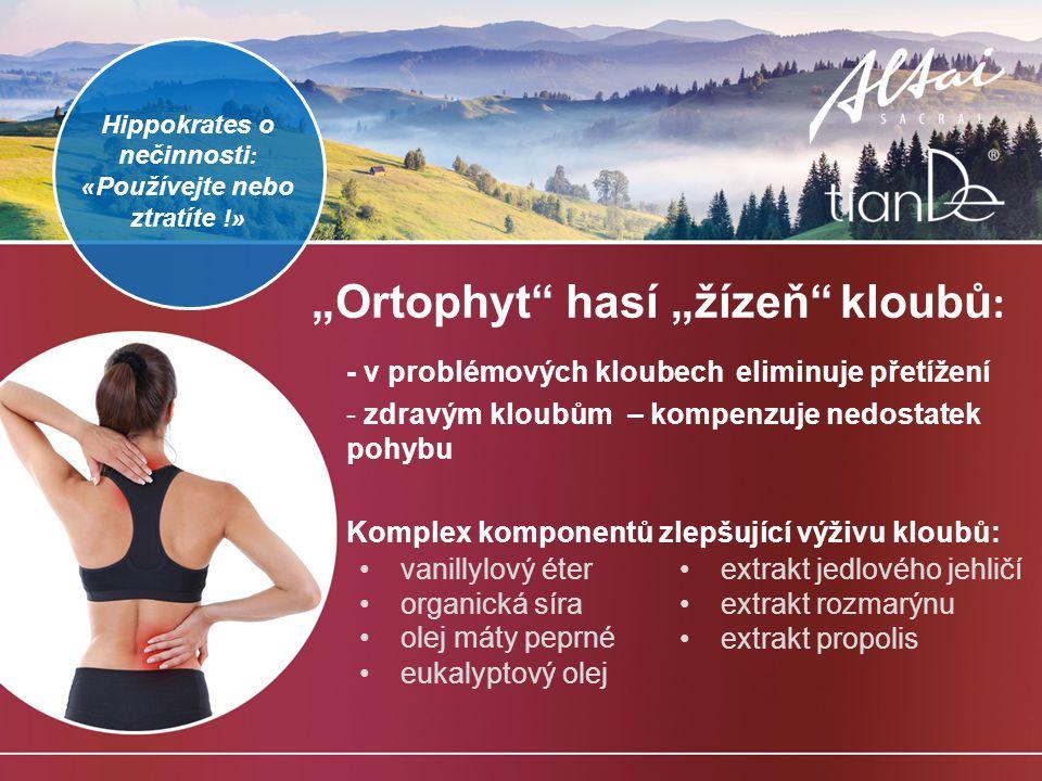 """Ortophyt hasí ""žízeň kloubů:"
