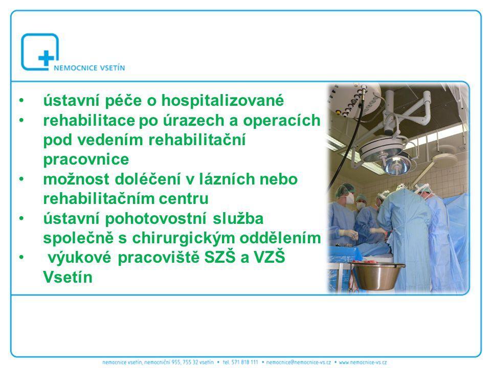 ústavní péče o hospitalizované