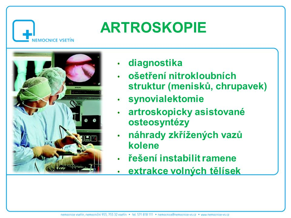 ARTROSKOPIE diagnostika