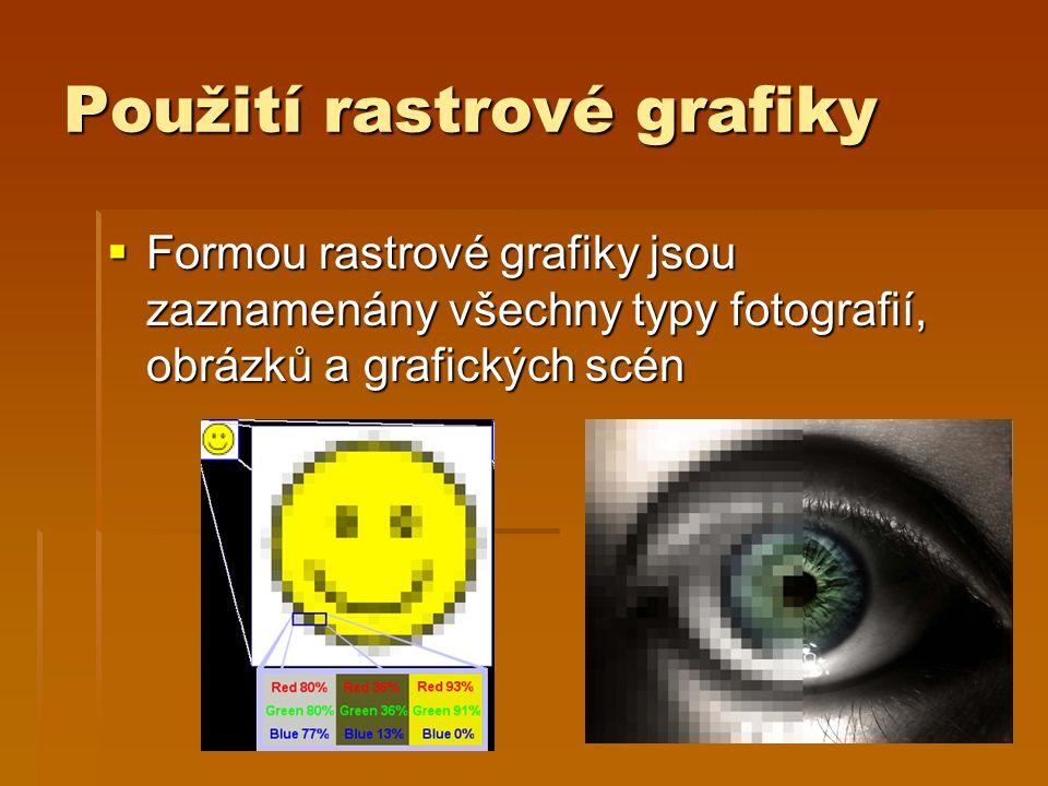 Použití rastrové grafiky