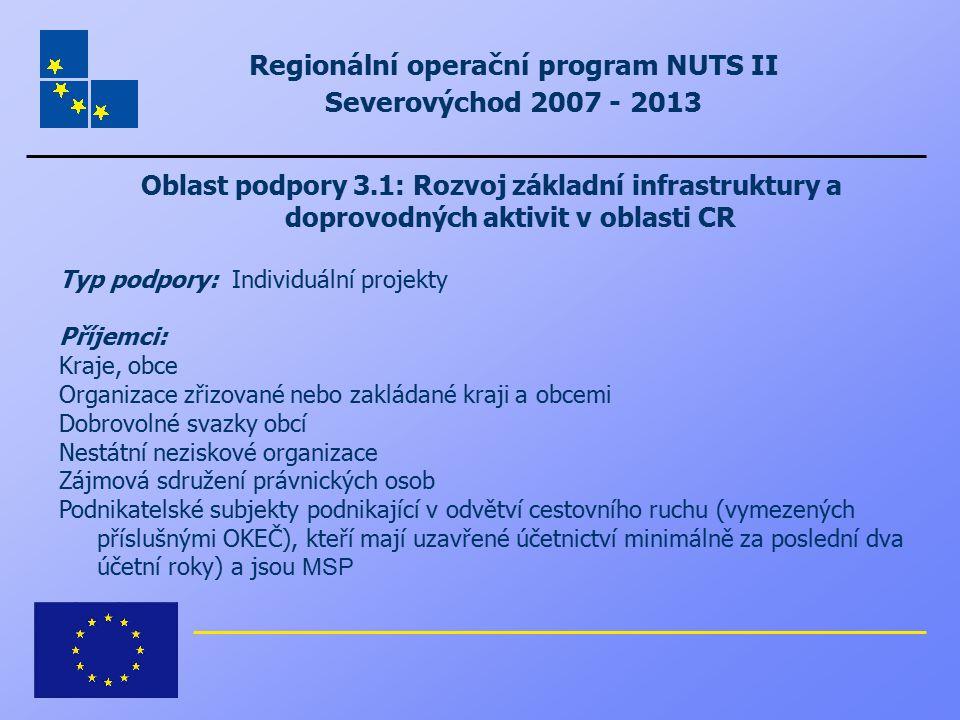 Regionální operační program NUTS II Severovýchod 2007 - 2013