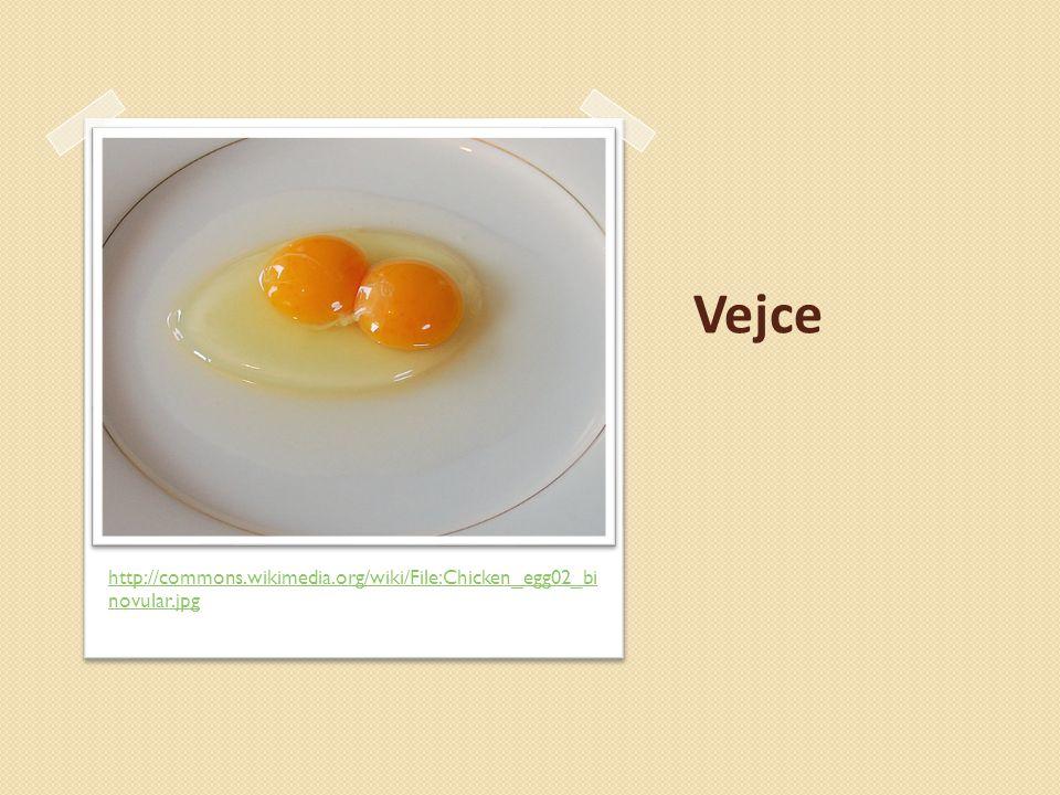 Vejce http://commons.wikimedia.org/wiki/File:Chicken_egg02_binovular.jpg