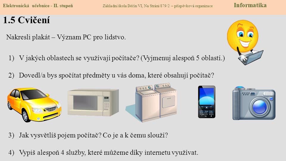 1.5 Cvičení Nakresli plakát – Význam PC pro lidstvo.