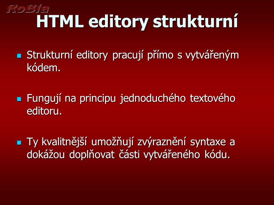 HTML editory strukturní