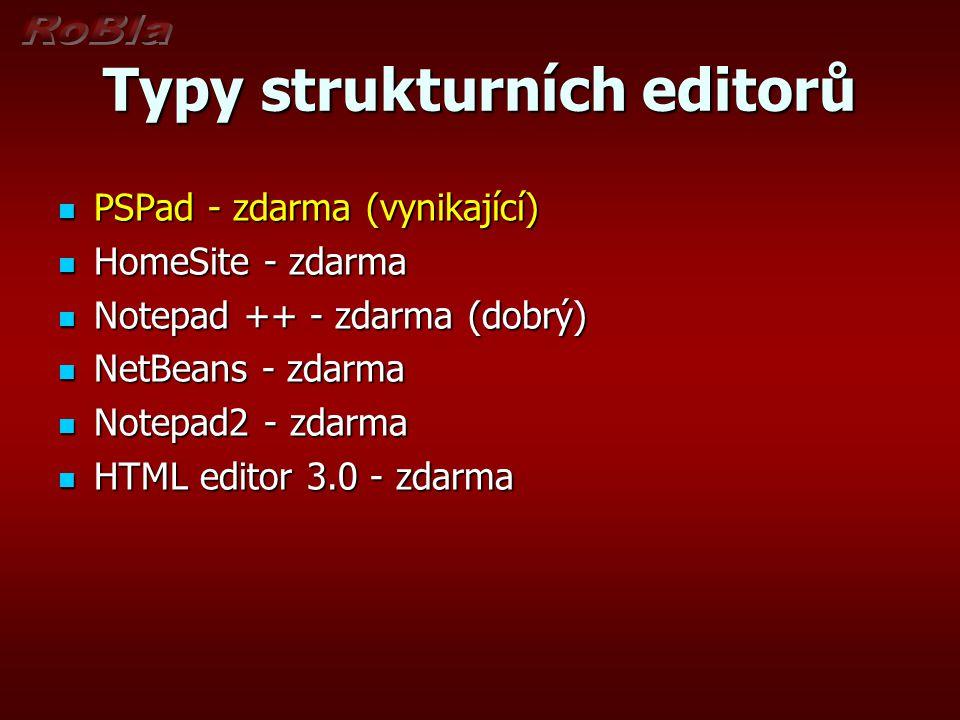 Typy strukturních editorů