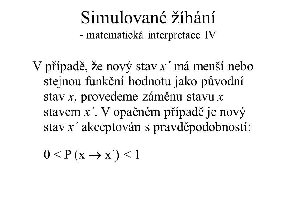 Simulované žíhání - matematická interpretace IV