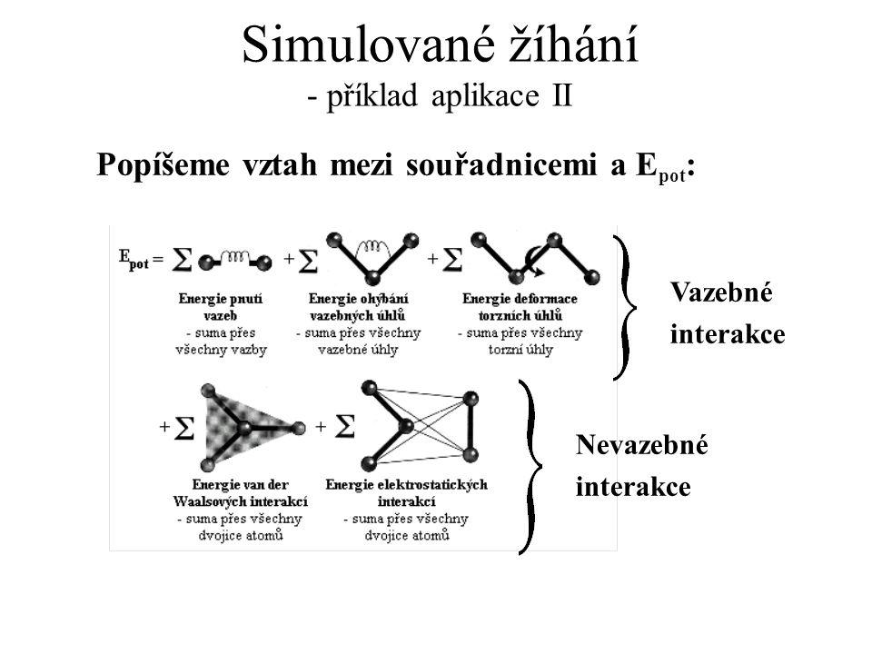 Simulované žíhání - příklad aplikace II