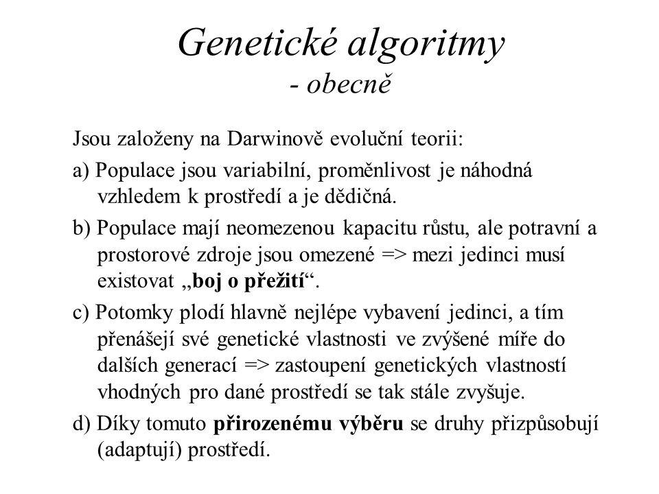 Genetické algoritmy - obecně