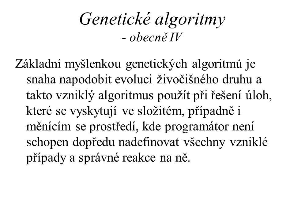 Genetické algoritmy - obecně IV