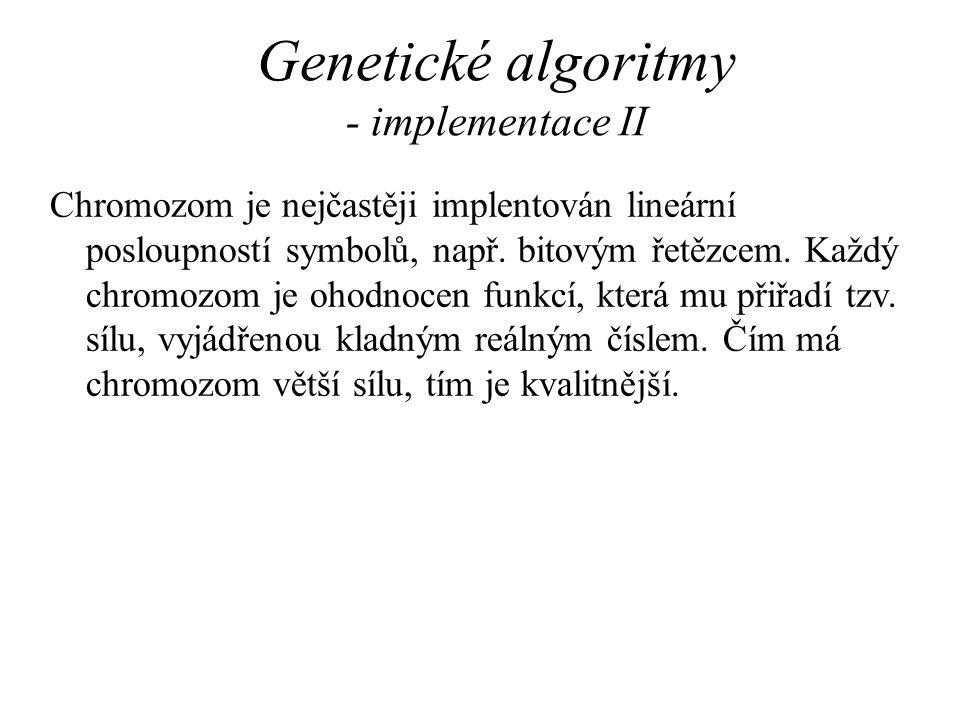 Genetické algoritmy - implementace II