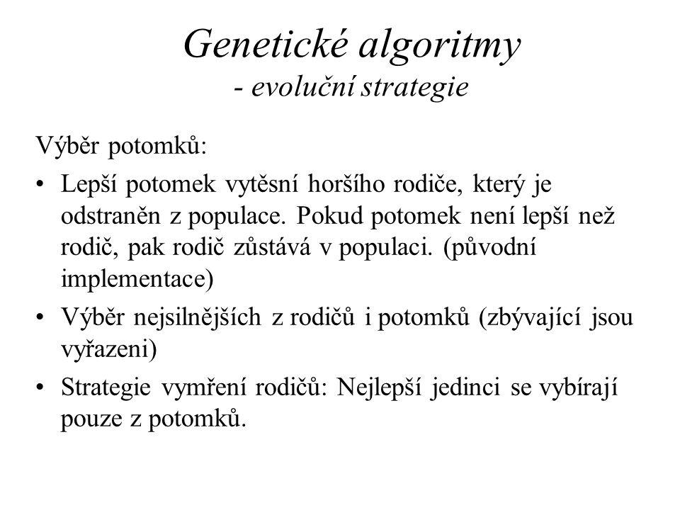 Genetické algoritmy - evoluční strategie