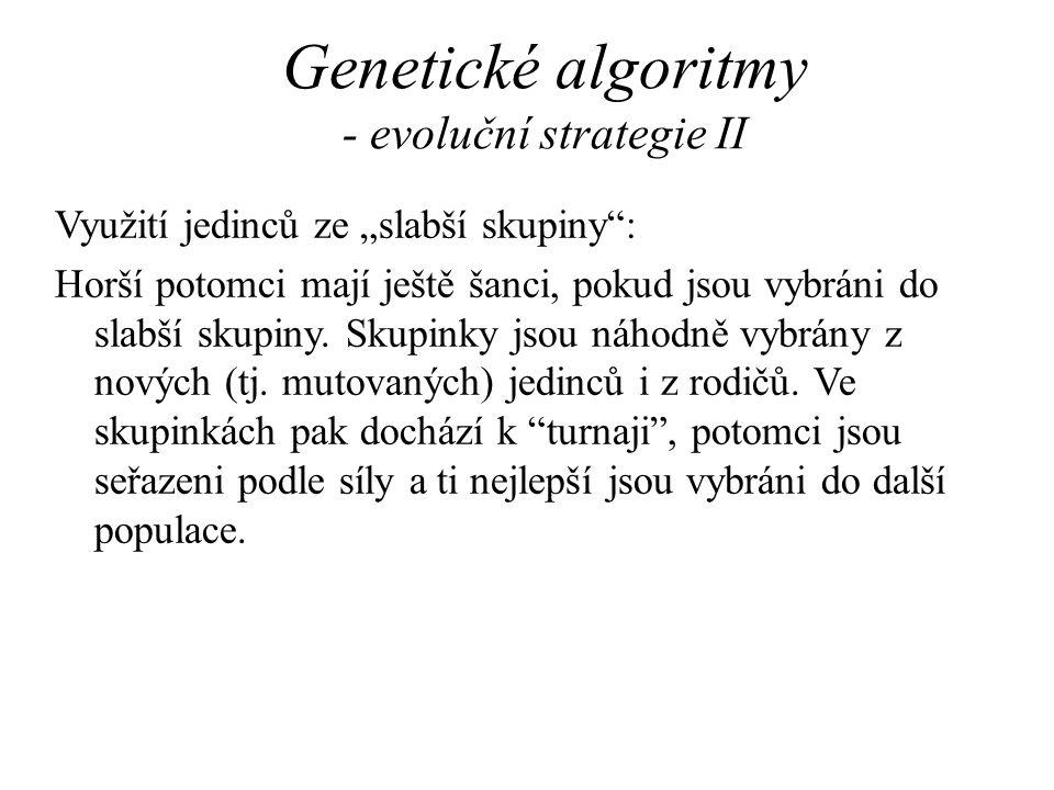 Genetické algoritmy - evoluční strategie II
