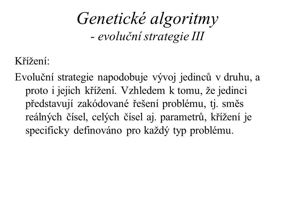 Genetické algoritmy - evoluční strategie III
