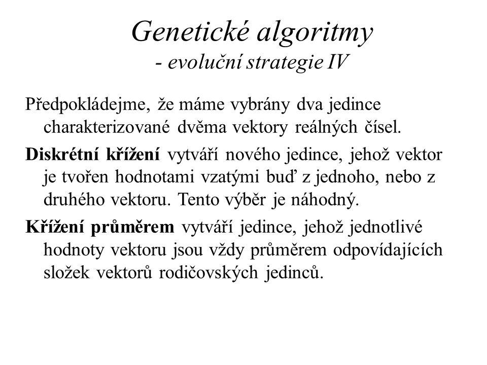 Genetické algoritmy - evoluční strategie IV