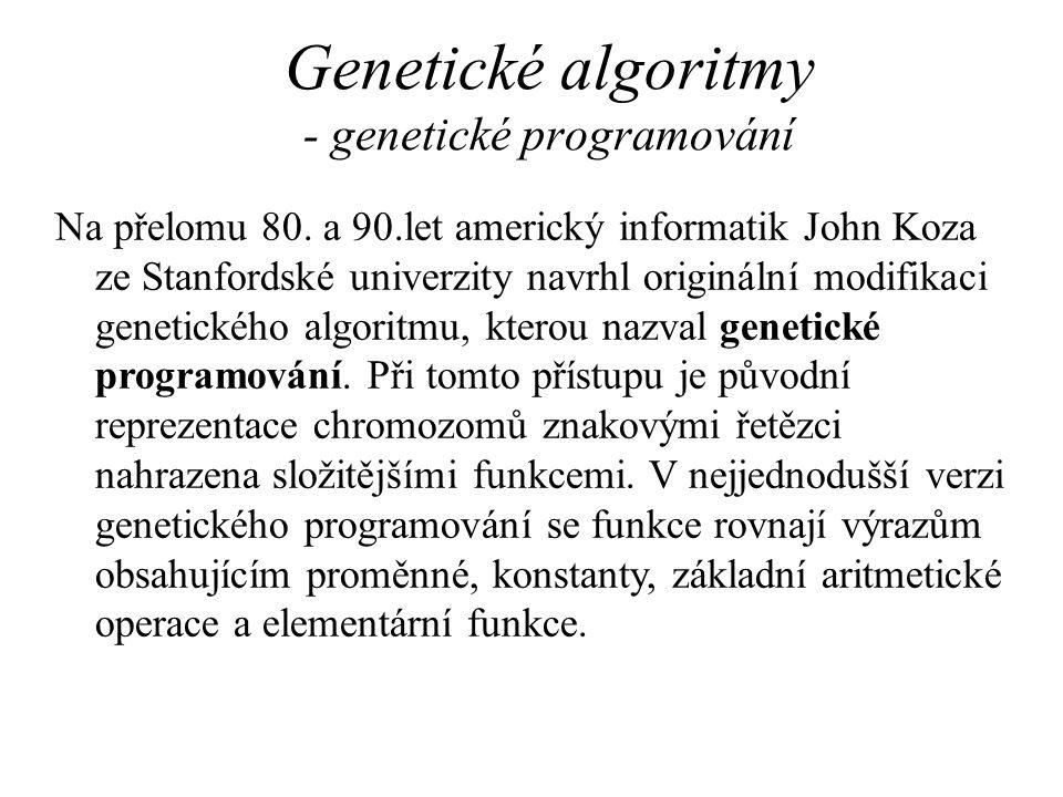 Genetické algoritmy - genetické programování