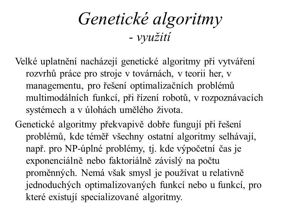 Genetické algoritmy - využití
