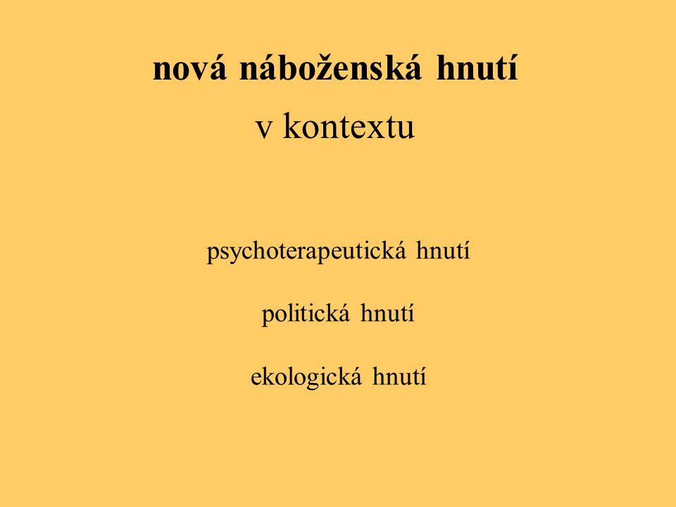 psychoterapeutická hnutí