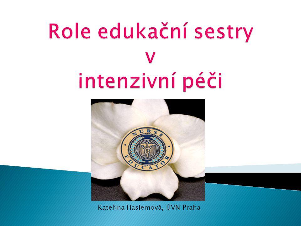 Role edukační sestry v intenzivní péči