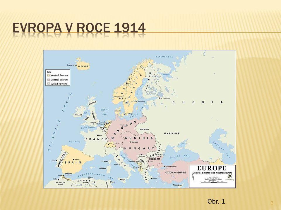 EVROPA V ROCE 1914 Obr. 1