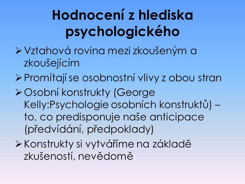 Hodnocení z hlediska psychologického