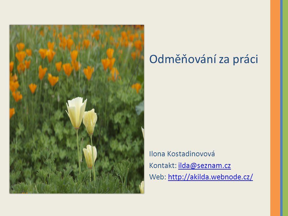 Odměňování za práci Ilona Kostadinovová Kontakt: ilda@seznam.cz